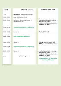 Symposium Timetable